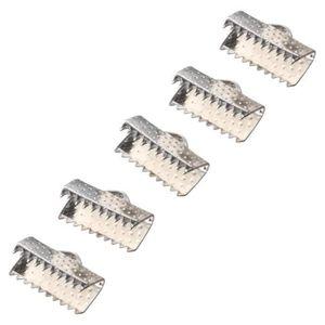 APPRÊTS  100 Fermoirs Griffe Pr Collier-Bracelet 13x8mm arg