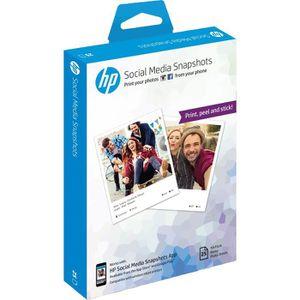 CARTOUCHE IMPRIMANTE Papier photo adhésif HP Social Media Snapshots amo