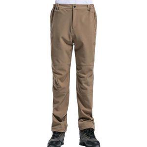 PANTALON SPORT MONTAGNE Pantalon Softshell Homme Doublé Polaire Coupe-vent