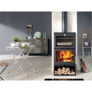 POÊLE À BOIS PANADERO Cook 7,1 Kw Poêle à bois en acier - Flamm