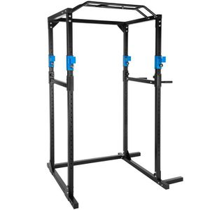 APPAREIL CHARGE GUIDÉE TECTAKE Cage de Musculation Traction Squats Dips 4