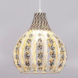LUSTRE ET SUSPENSION Lampe Suspendue Luminaire Salon Rotin Suspension L