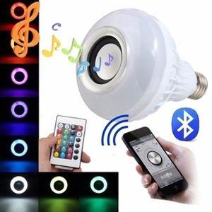 ENCEINTE NOMADE E27 LED RGB Bluetooth Haut-parleur Sans Fil Ampoul