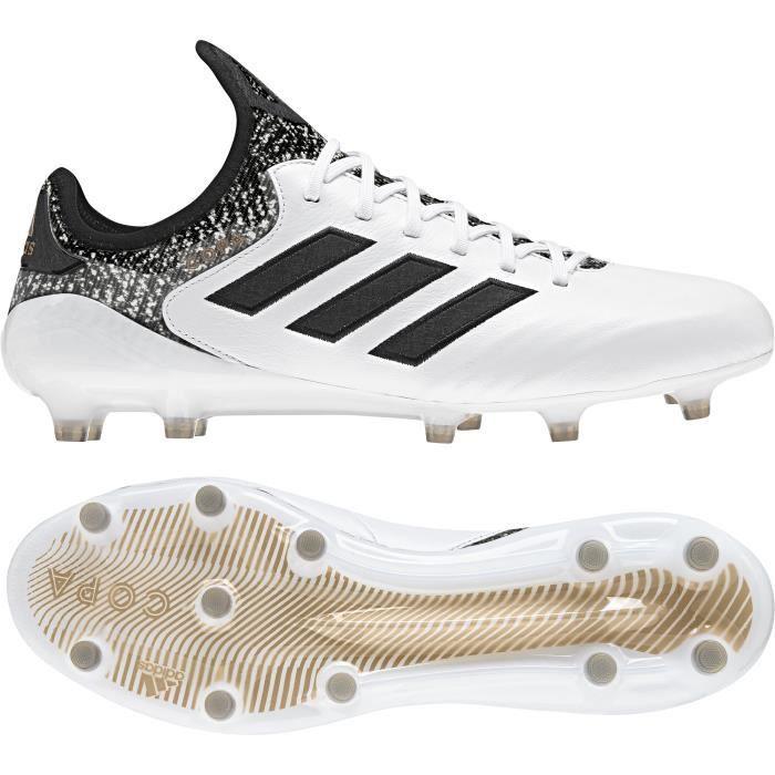 Chaussures de football adidas Copa 18.1 FG - blanc/noir/gris - 40 2/3