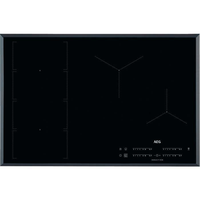 AEG IKE84471FB, Intégré, Plaque avec zone à induction, Noir, 2800 W, Rond, 18 cm