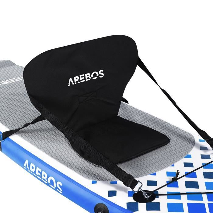 AREBOS Siège de Kayak pour SUP Board Stand Up Paddle Surfboard Top Comfort