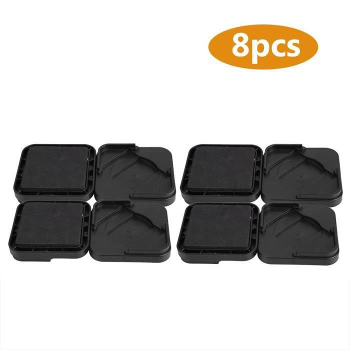 8pcs Rehausseurs de meubles Jambes de meubles en plastique antidérapant pour chaises de canapé-bureau-table-lit-BOB