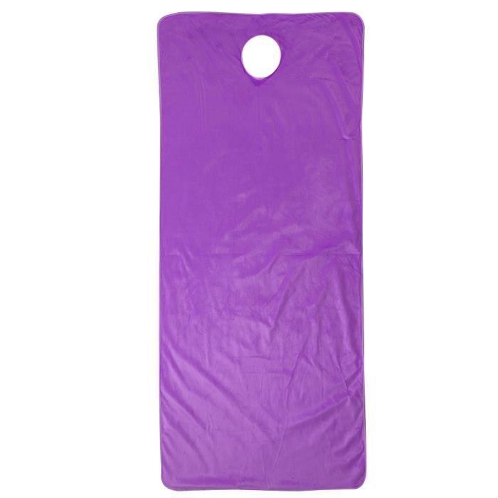 Housse de Table de Massage, Drap de Lit Massage avec Trou Respiration Pour Visage Pour Table Soins de Spa - Violet