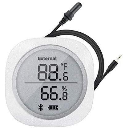 Thermomètre d'aquarium numérique pour aquarium, Inkbird IBS-TH1 PLUS moniteur de température et d'humidité, avec pour Terrarium,Cave
