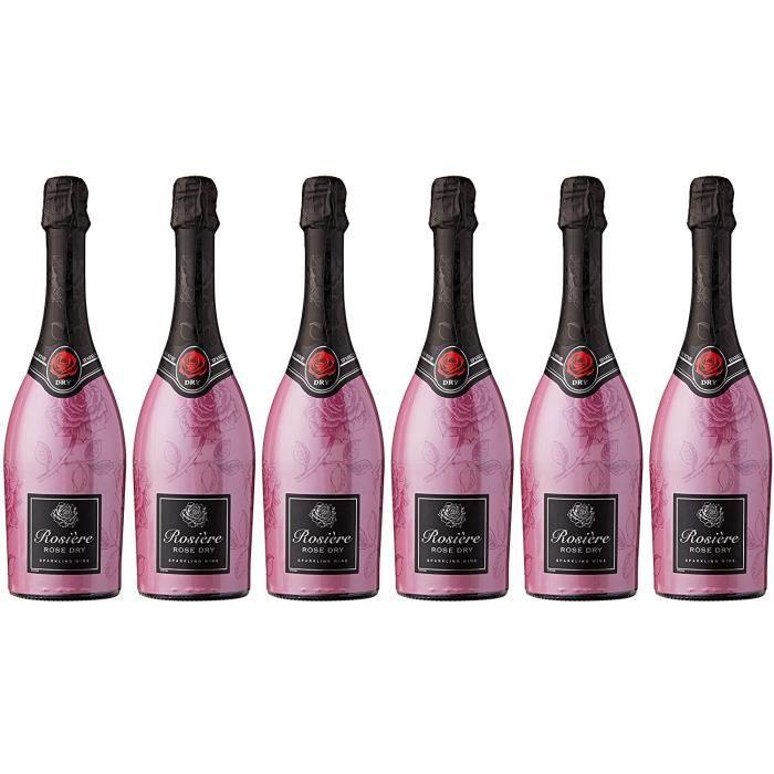 Rosière Vin de France Mousseux Sparkling Dry Vin 75 cl - Lot de 6