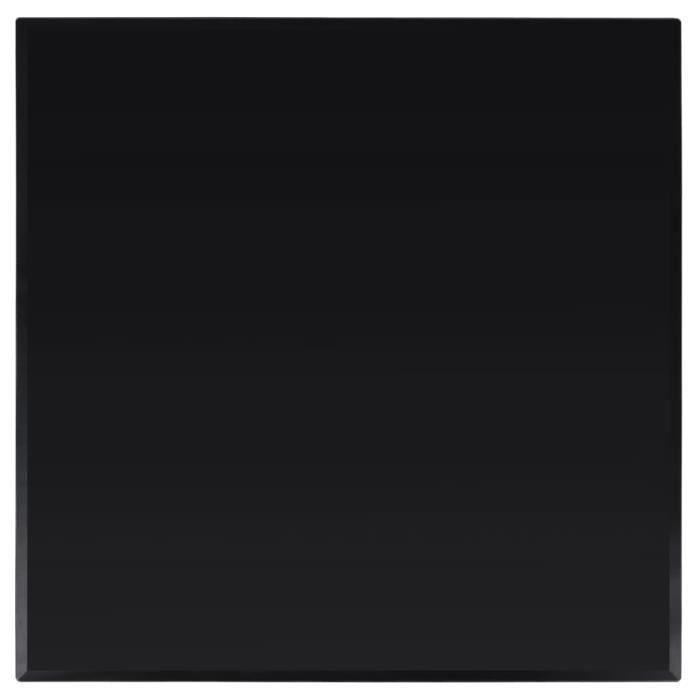 Dessus de table carré Verre trempé 700 x 700 mm --RUR