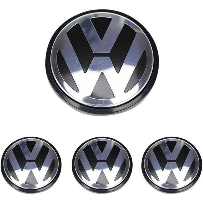 4 x caches moyeux centre roue VW pour Volkswagen 65mm ref. 3B7 601 171