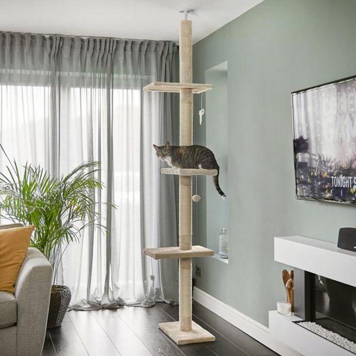 Arbre à chat haut, du sol au plafond