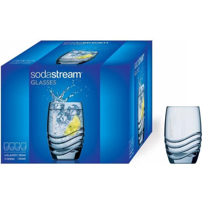 GAZEIFICATEUR - MACHINE A SODAS Sodastream Verres &agrave eau et soda – 4 unit&eacutes – 4 x 330 ml – Transparent – Compatible83