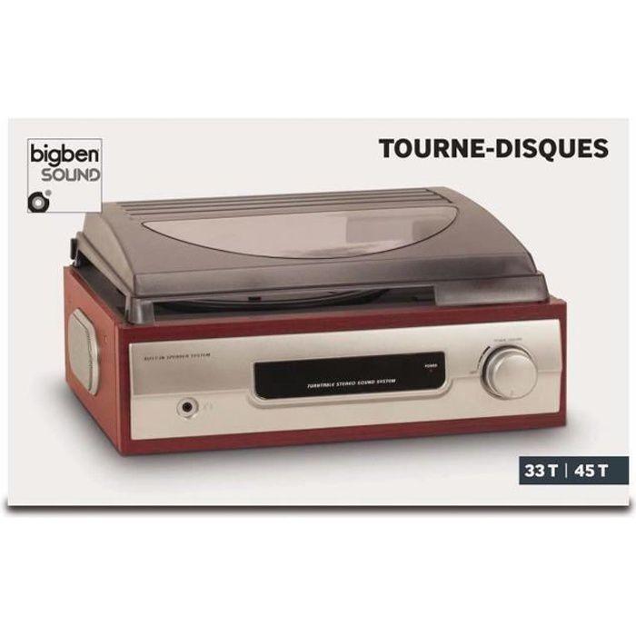 TOURNE DISQUES 2 VITESSES BIGBEN INTERACTIVE