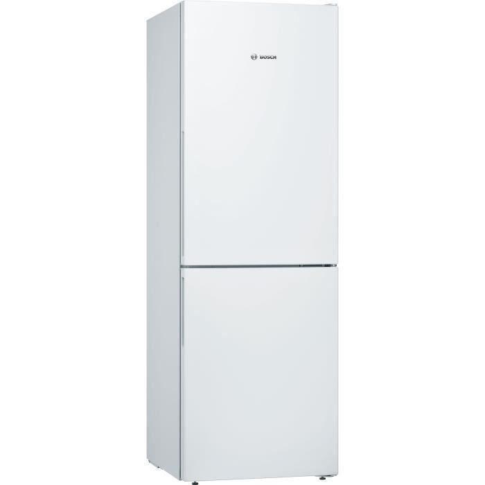 BOSCH KGV33VWEAS - Réfrigérateur congélateur bas - 286L (192+94) - Froid brassé low frost - L 60cm x H 176cm - Blanc