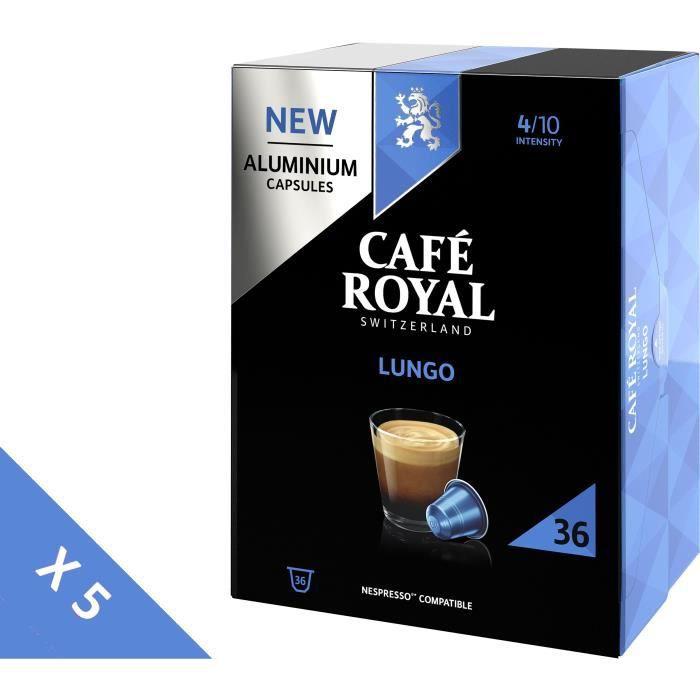 [Lot de 5] CAFE ROYAL Café compatible Nespresso Alu Lungo x36
