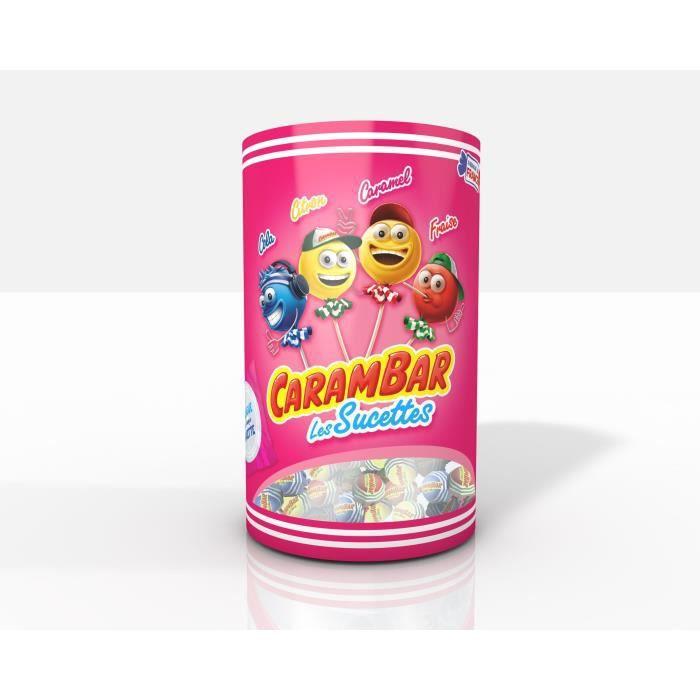 CARAMBAR Bonbons Les Sucettes Assort - 1,2 kg