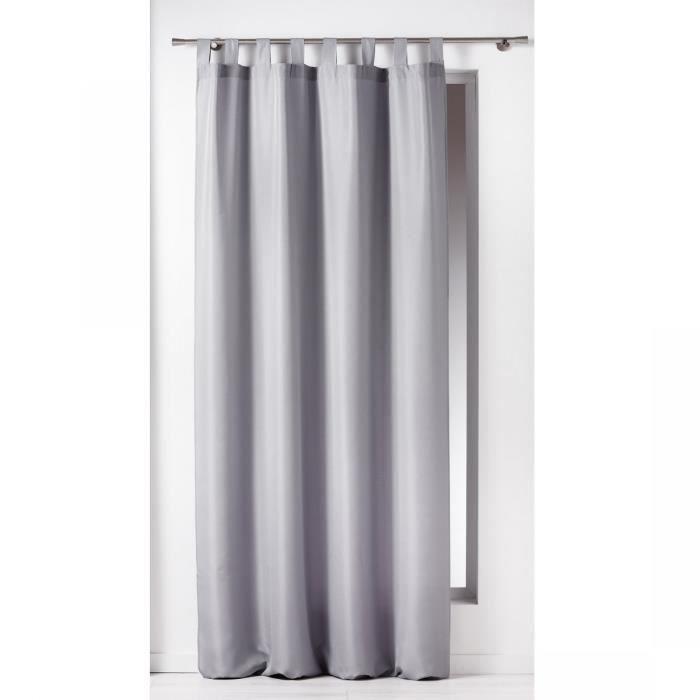 Rideau passants 140x260 ESSENTIEL gris