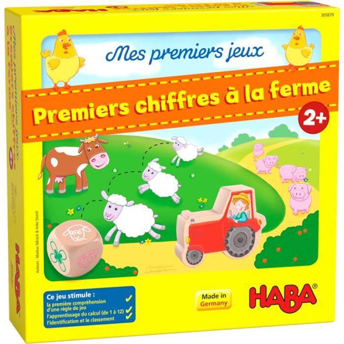 Mes premiers jeux Haba - Premiers chiffres à la ferme - Jeux de société - Jeux pour enfants - Jeux de plateau