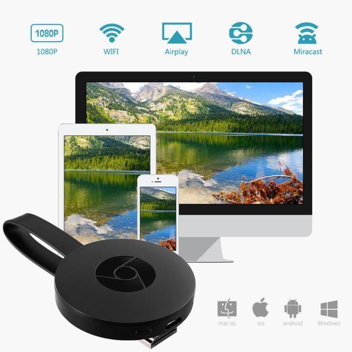 IEGEEK G2 Pour Google Chromecast 2nd Digital HDMI Media Vidéo TV Streamer Wi-Fi 1080P