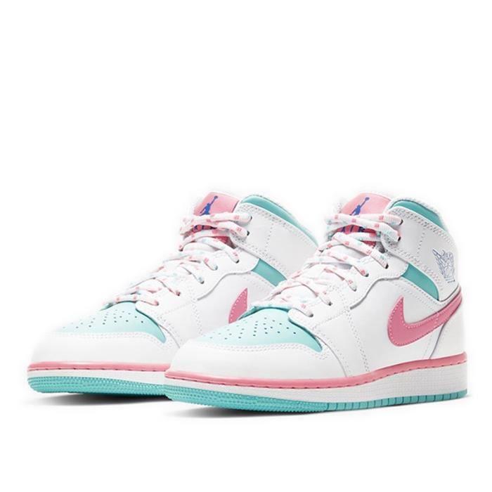 Air Jordans 1 Mid Femme Jordans One -Digital Pink- Chaussures de Basket Pas Cher pour Fille Femme