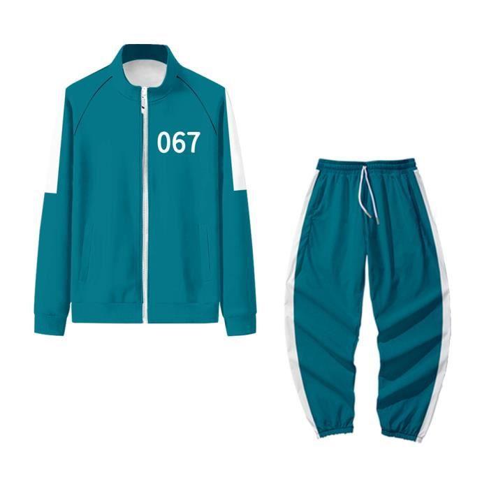 Sweat Shirt Corée du Sud Film Squid Game Merch Sweatshirt Sport 067 218 456 240 001Pull Veste Zippé Fermeture Éclair Six Unisexe