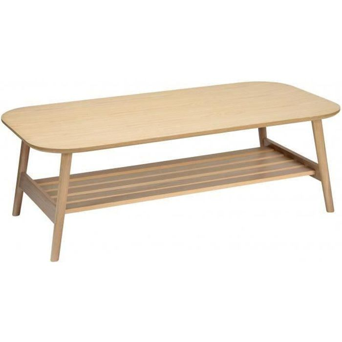Table Basse Bois de Chêne L120XH40xP60 cm OTELO