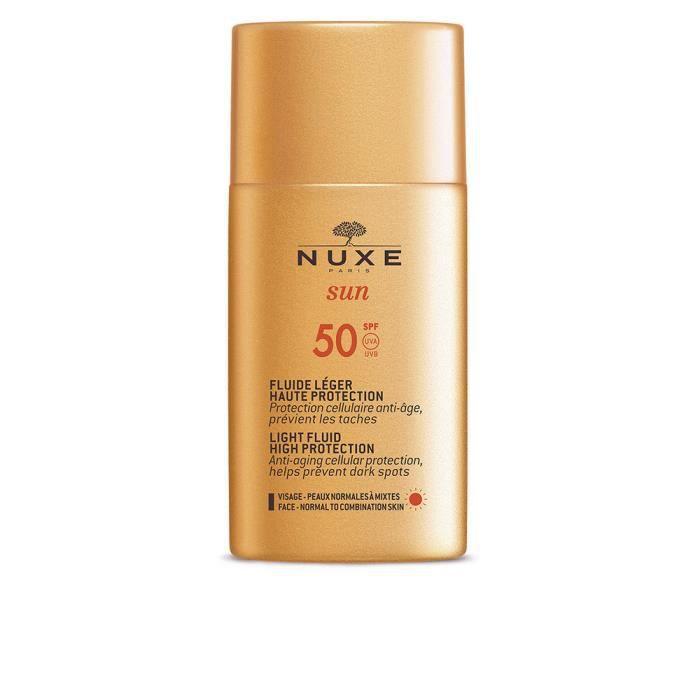 Protection Solaire Corps - Protection Solaire Visage - NUXE - NUXE SUN fluide léger haute protection SPF50 50 ml Prémium
