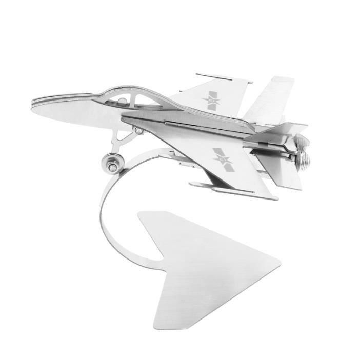 1pc modèle de combattant d'avion d'attaque de en métal ornement de bureau VEHICULE A CONSTRUIRE - ENGIN TERRESTRE A CONSTRUIRE
