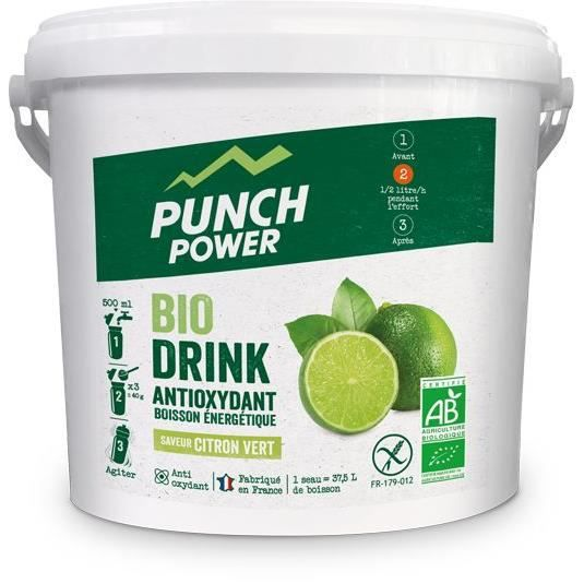 PUNCH POWER Biodrink Citron vert antioxydant - Seau 3 kg