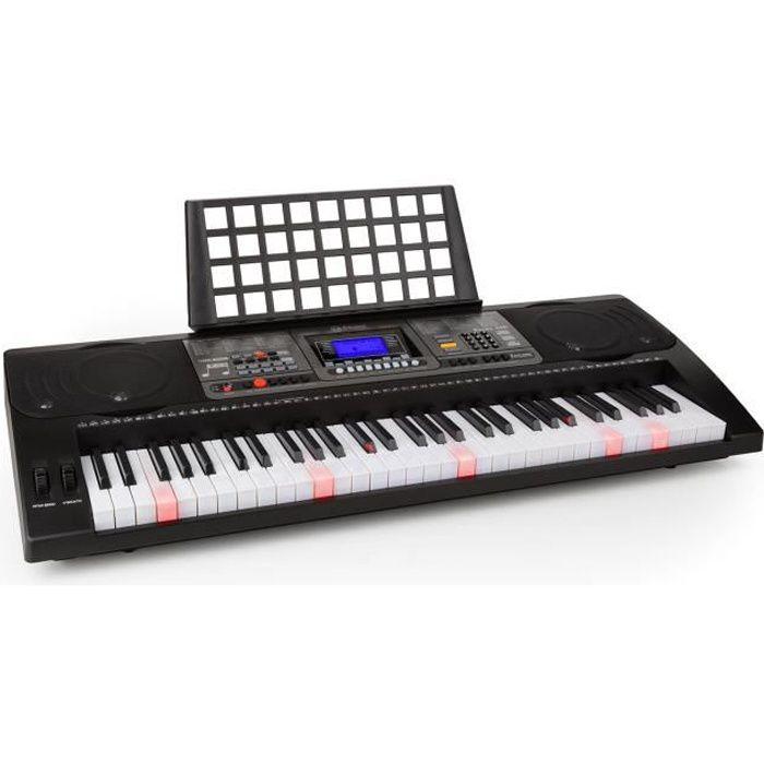 Schubert Etude 450 Piano électrique d'apprentissage avec port USB MIDI 61 touches lumineuses - Fonction enregistrement