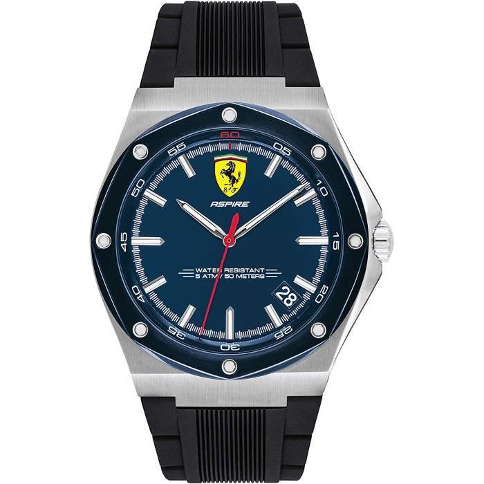 Scuderia Ferrari Homme Analogique Quartz Montre avec Bracelet en Silicone 0830605 80