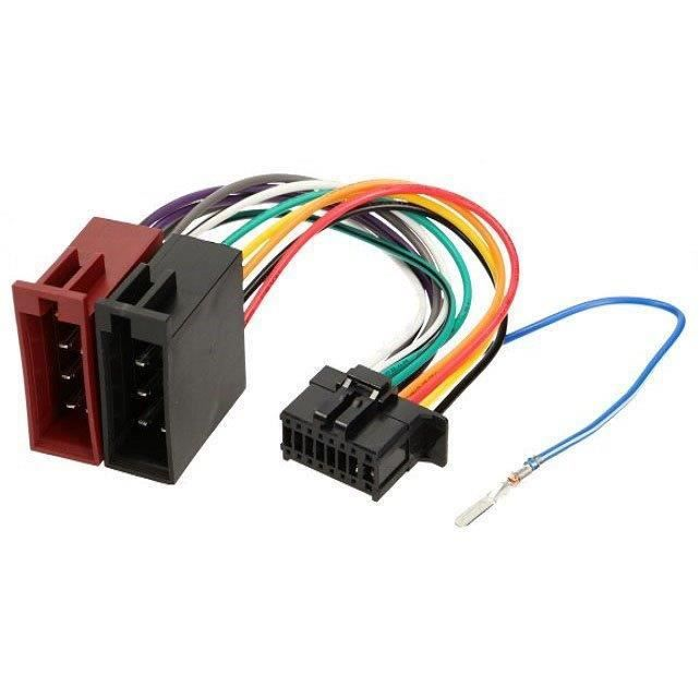 Cable adaptateur ISO autoradio Pioneer DEH-6200BT DEH-6300SD DEH-6300UB DEH-6310SD