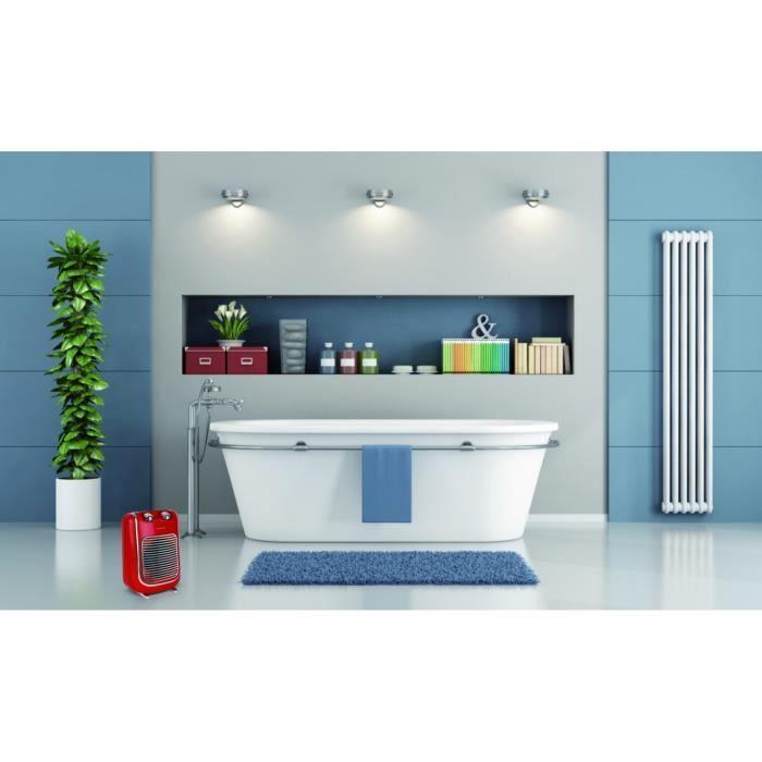 Radiateur soufflant salle de bain mobile électrique THOMSON Fifty thsf 2000 W