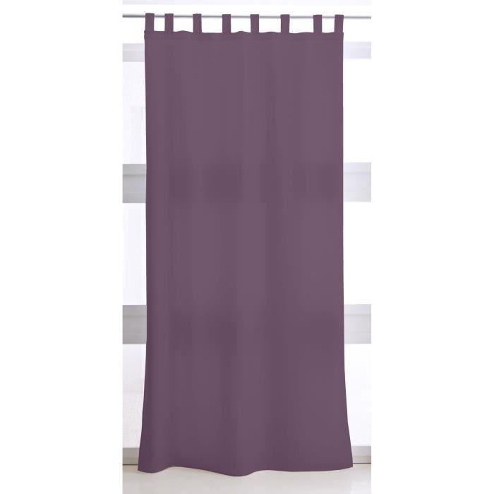 TODAY Rideau à Pattes 140X260 uni violet TODAY