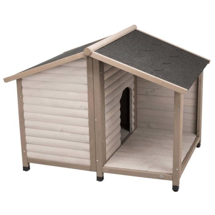 TRIXIE Niche avec toit en bâtière pour chiens nature 100 x 82 x 90 cm