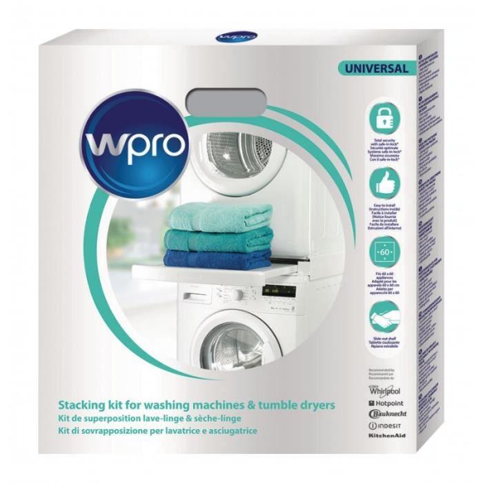 WPRO Kit d'empilage Machine à laver / Sèche-linge 60 cm