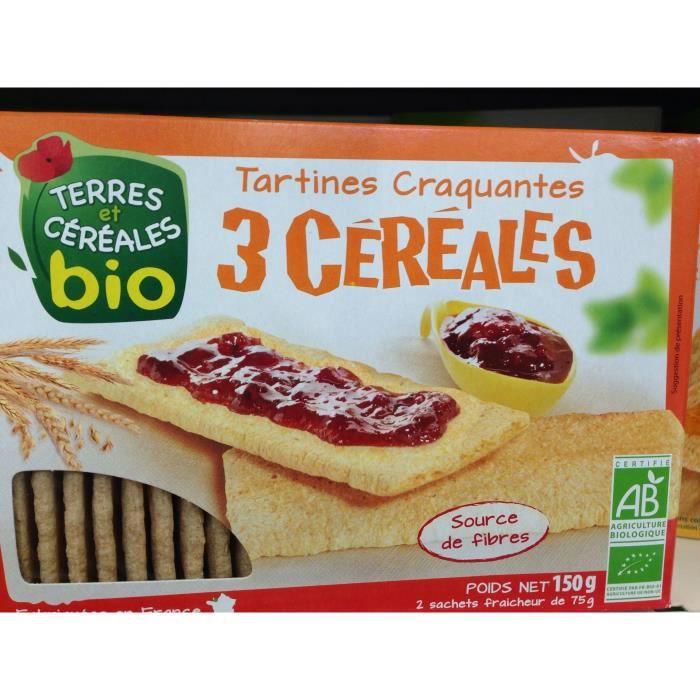 Tartines craquantes 3 cerises bio - 150g