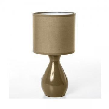 Lampe c ramique pied bouteille taupe achat vente lampe for Lampe de chevet taupe
