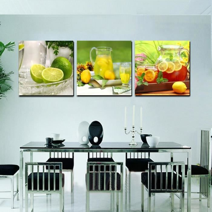 Sans Cadre Accueil Cuisine Decoration Toile Moderne Peinture