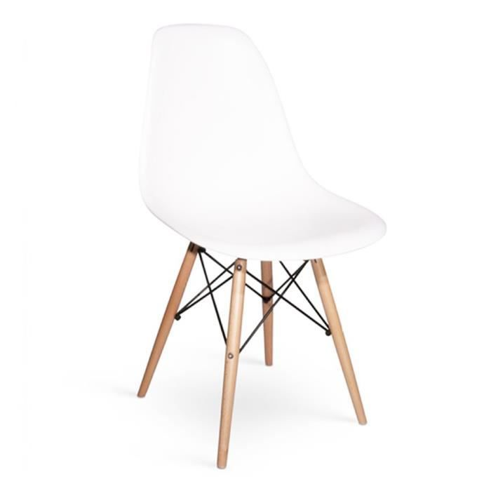 Chaise dsw blanche table de lit - Chaise design blanche pas cher ...