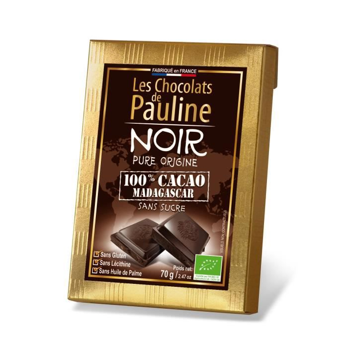 La tablette de chocolat noir 100 pour cent cacao de for 1 tablette de chocolat