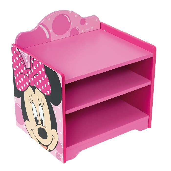minnie table de chevet achat vente chevet cdiscount. Black Bedroom Furniture Sets. Home Design Ideas