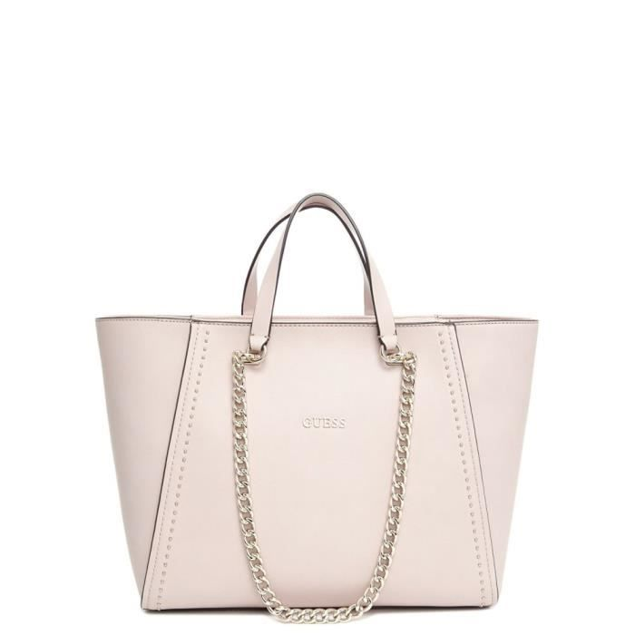 f168303481 Sac cabas Guess Nikki Chain Rose Poudre - Achat / Vente sac shopping ...