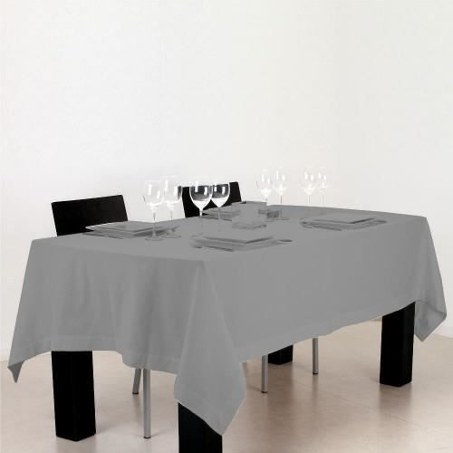 nappe rectangulaire coton gris clair achat vente nappe de table cdiscount. Black Bedroom Furniture Sets. Home Design Ideas