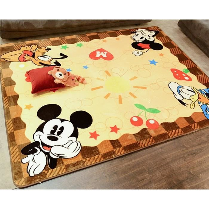 kaki tapis pour enfants tapis de jeu mickey mouse donald duck achat vente tapis cdiscount. Black Bedroom Furniture Sets. Home Design Ideas