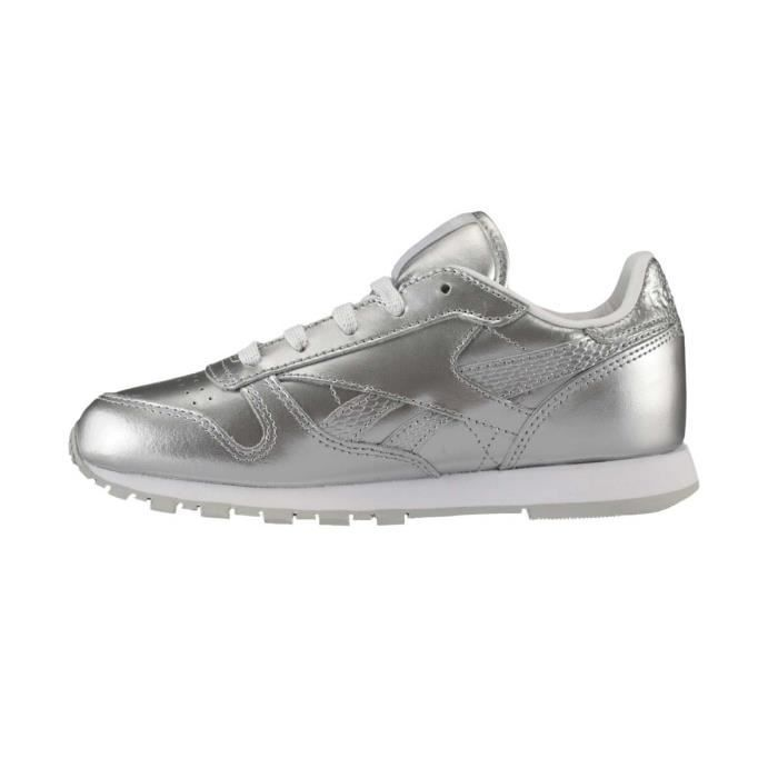 ae1989d13f96b Basket Reebok Classic Leather Metallic Cadet - Ref. BS7459 Gris ...