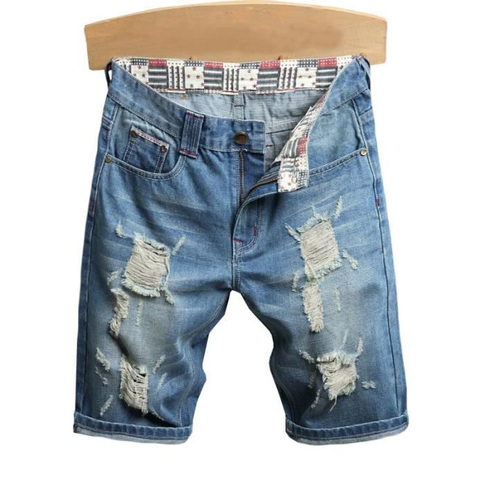 En Bermuda Shorts Abrasions Jean Casual Vêtements Patch Fashion Short Ete Homme wdxSqZZ1