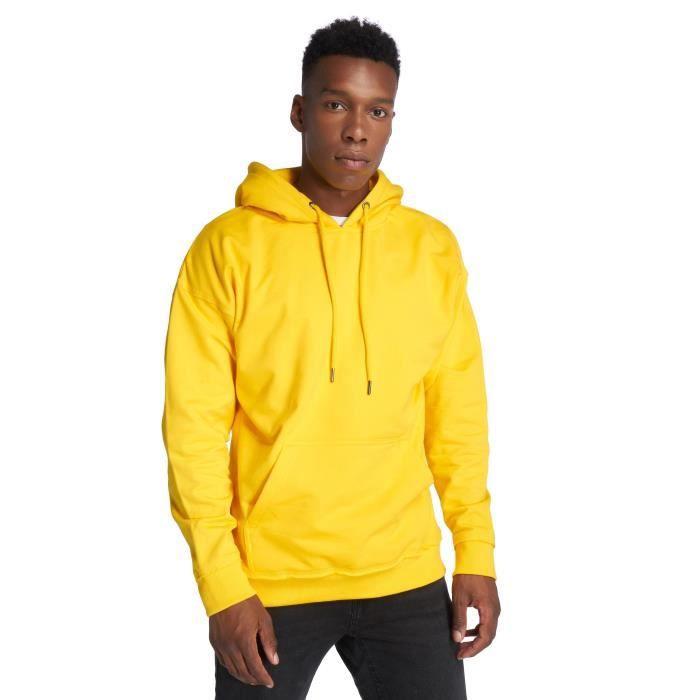 sweat à capuche jaune homme